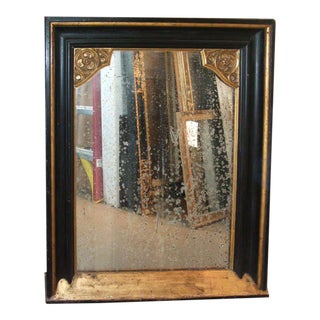 Napoleon III Ebonized and Gilt Framed Mirror