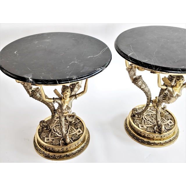 Art Nouveau Bronze Mythical Fairy Figural Tables - A Pair - Image 3 of 11