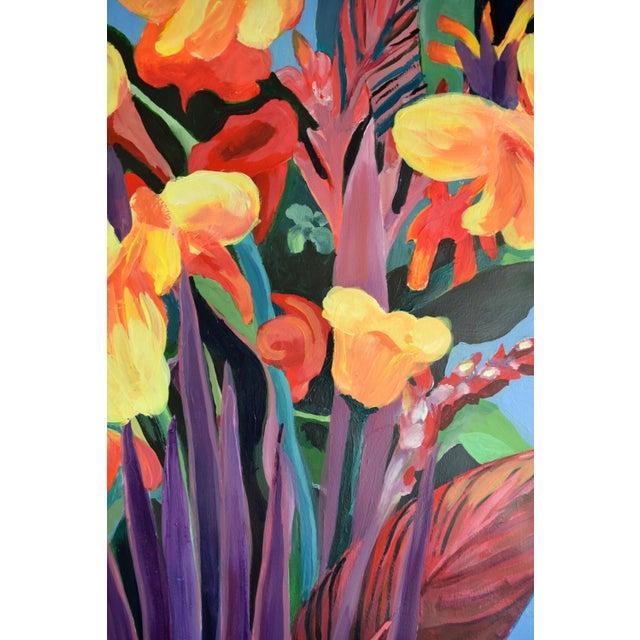 """Pot De Fleurs"" Calla and Canna Watercolor Painting - Image 8 of 8"