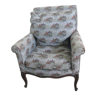 Vintage Patterned Accent Chair