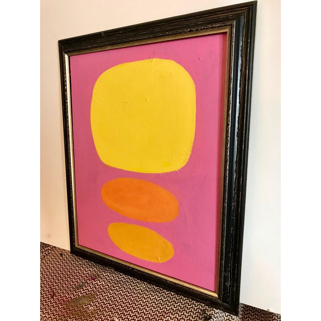 Abstract Modern Abstract Yellow Dots Painting For Sale - Image 3 of 5