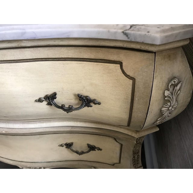 19th Century Italian Provincial Carrera Marble Custom Bathroom Vanity For Sale In Chicago - Image 6 of 7