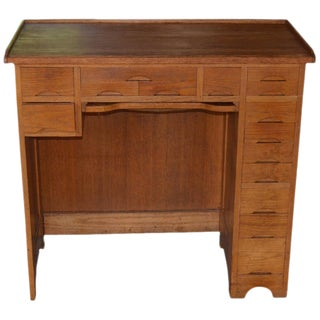 Cabinet Desk of Oak and Maple Used by a Watchmaker, 13 Drawers of Various Sizes For Sale