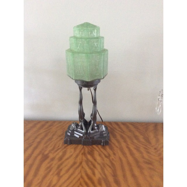Original Frankart Art Deco Lamp - Image 2 of 6