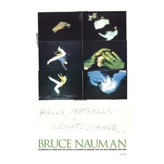 Bruce Nauman_Falls, Pratfalls + Sleights of Hand_Offset Lithograph For Sale