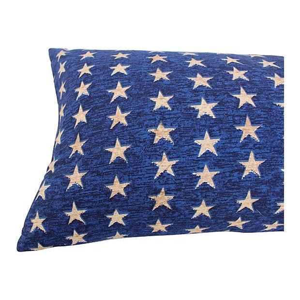 Folk Art Americana Stars Pillows - Pair - Image 5 of 5