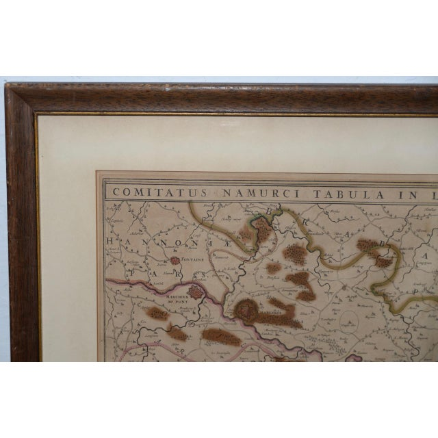 18th Century Map of the Historic County of Namur, Belgium For Sale - Image 4 of 9