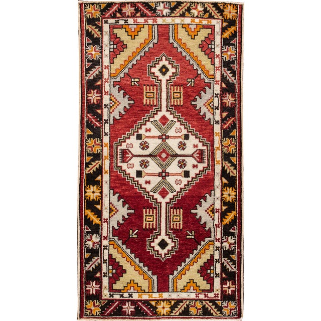"Early 20th Century Vintage Anatolian Rug, 2'9"" X 5'4"" For Sale - Image 10 of 10"