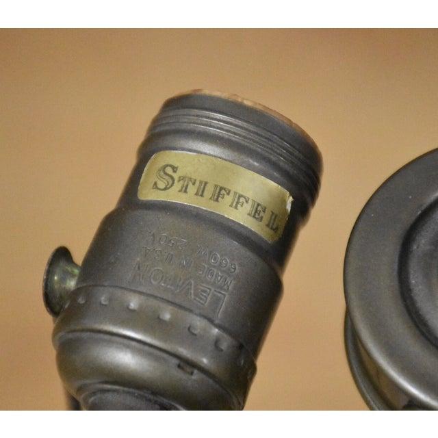 Stiffel Yellow Table Lamp - Image 8 of 8
