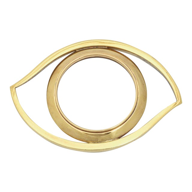 Luxe 'Evil Eye' Brass Magnifying Glass Paperweight - Image 1 of 3