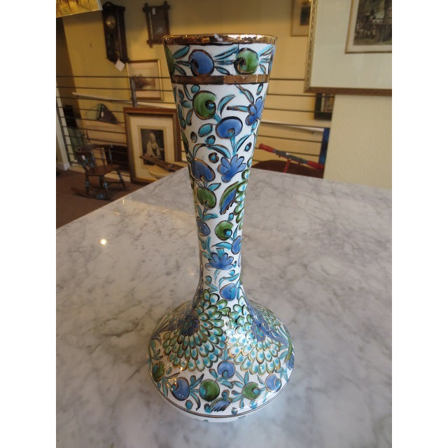 Hand Painted Greek Flower Vase - Image 8 of 9