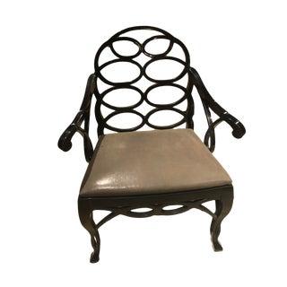 "Truex American Furniture ""Loop Chair"" Ebony Leather"