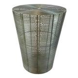 Image of Arteriors Industrial Metal Basket Side Table For Sale