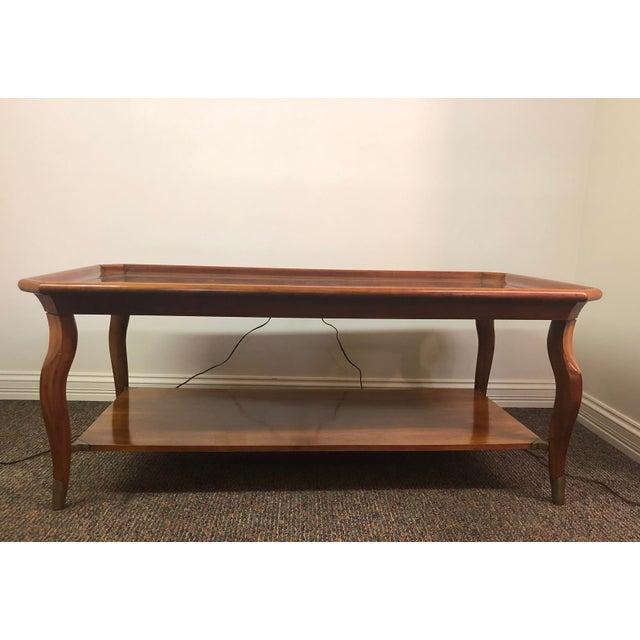 Mid-Century Modern Vintage John Widdicomb Furniture Coffee Table For Sale - Image 3 of 13