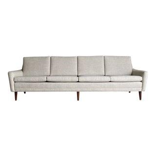 Mid-Century Upholstered Swedish Sofa For Sale
