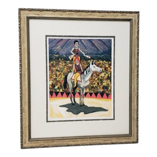 "Fine Limited Edition Framed Color Lithograph ""Cirque"" by King C.2004 For Sale"