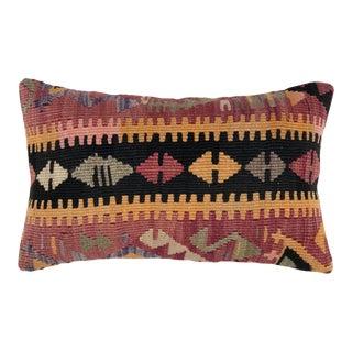 "Boho Kilim Lumbar Pillow | 12 X 20"" For Sale"