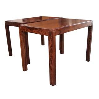 Vejle Stole Mobelfabrik Mid-Century Modern Rosewood End Tables - a Pair For Sale
