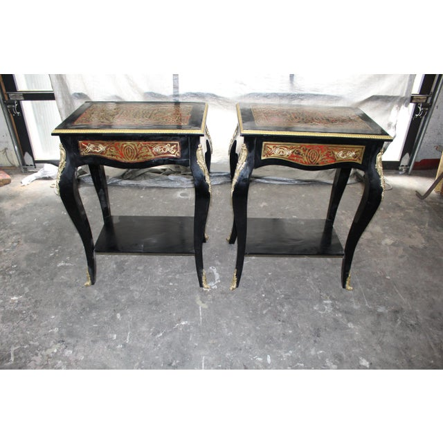19th Century Art Noveau Boulle Occasional Tables - a Pair For Sale In Atlanta - Image 6 of 10