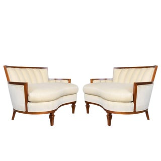 Pair of Italian Kidney Shaped Settees For Sale