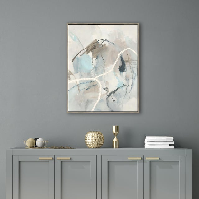 A fabulous on trend, wonderfully colored gallery-wrapped giclee print on canvas by renowned artist Giselle Kelly. It is...