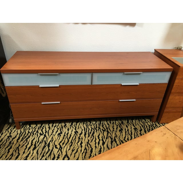 Design Plus gallery has a Scandinavian Design Sharon dresser. This piece has two glass fronted drawers across the top and...