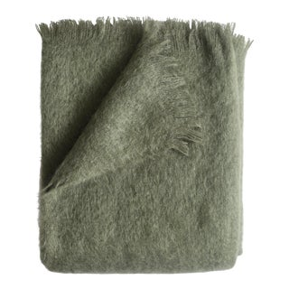 Mohair Throw in Moss For Sale