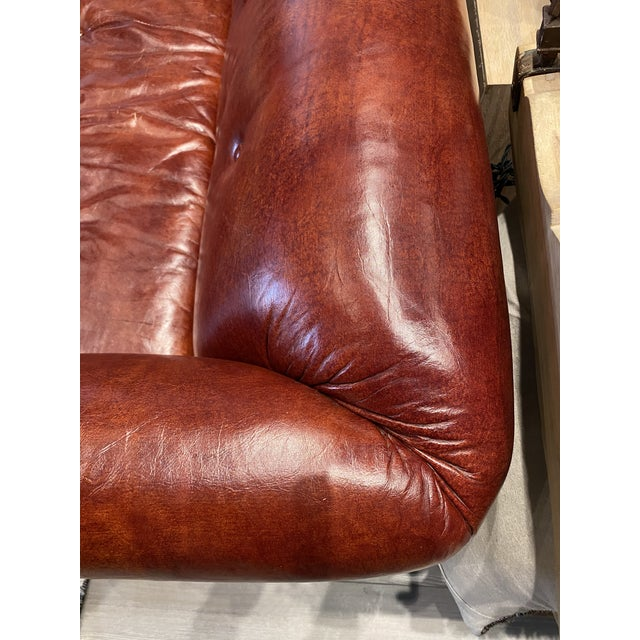 Vintage Tufted Leather Chesterfield Sofa For Sale - Image 11 of 12