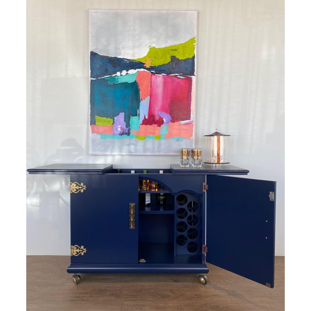 1970s Vintage Lacquered Bar Cart For Sale - Image 9 of 13