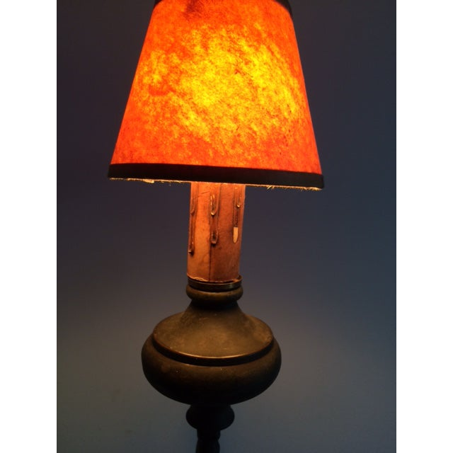 Gold Early 19th Century Wrought Iron and Brass Oil Lamp For Sale - Image 8 of 12