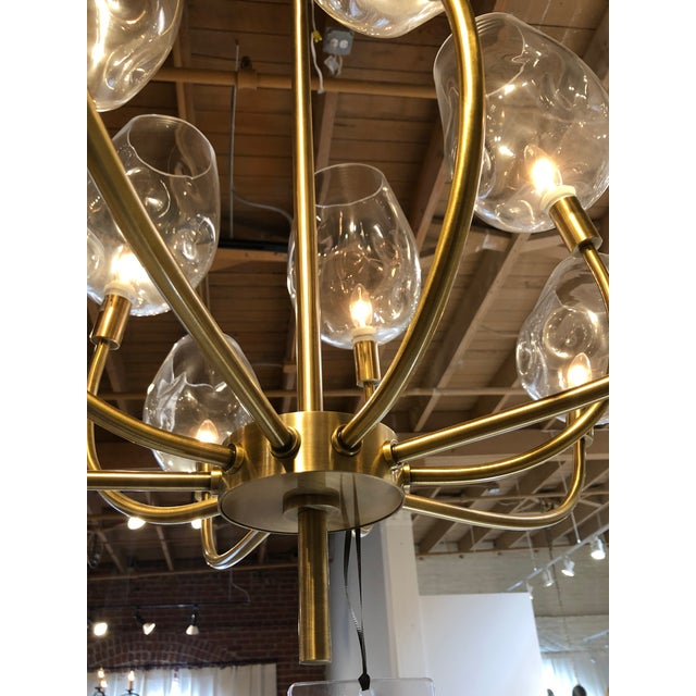 Mid-Century Modern Mid Century Ten Light Chandelier For Sale - Image 3 of 7