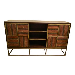 Currey & Co. Industrial Modern Wood and Metal Holden Credenza For Sale