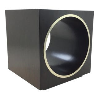 Bernhardt Wood and Metal Modern Geometric End Table For Sale