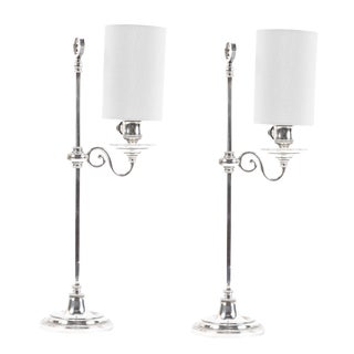 Regency Style Reading Lamps - a Pair For Sale
