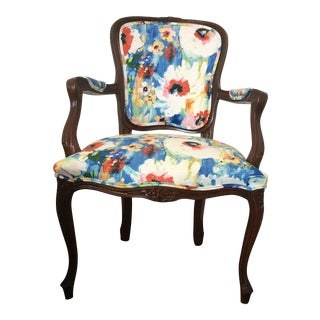 Vintage French Louis XVI Style Arm Chair