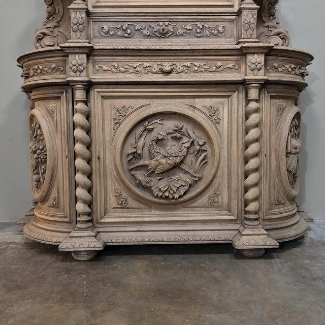 Oak 19th Century Renaissance Stripped Oak Hunt Bookcase For Sale - Image 7 of 13