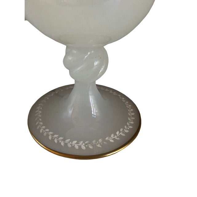 Clam Broth Opaline Glass Goblet For Sale - Image 4 of 6