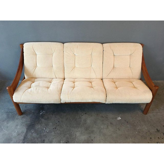 Danish Modern Domino Mobler Danish Modern Teak Sofa For Sale - Image 3 of 9