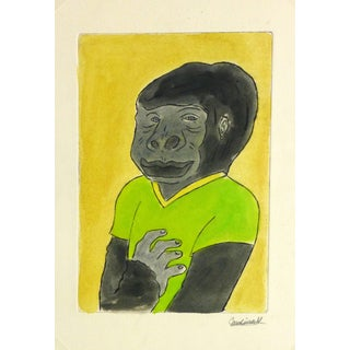 """Ana May """"Gorilla Guy"""" Etching For Sale"""