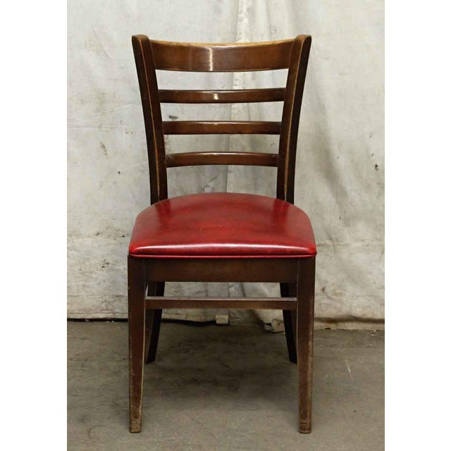 Red Seated Chairs - a Pair For Sale - Image 4 of 8
