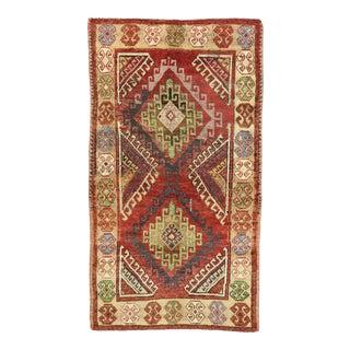 Vintage Turkish Oushak Rug, 03'11 X 06'11 For Sale