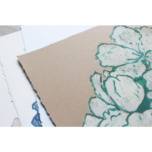 """Michelle Farro """"Jasmine Night Smell"""" Floral Woodblock Print by Michelle Farro For Sale - Image 4 of 10"""