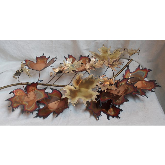 Curtis Jere Autumn Leaves Wall Sculpture - Image 6 of 6