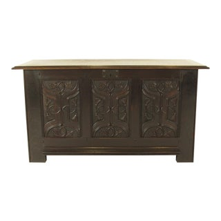 Art Nouveau Carved Blanket Chest