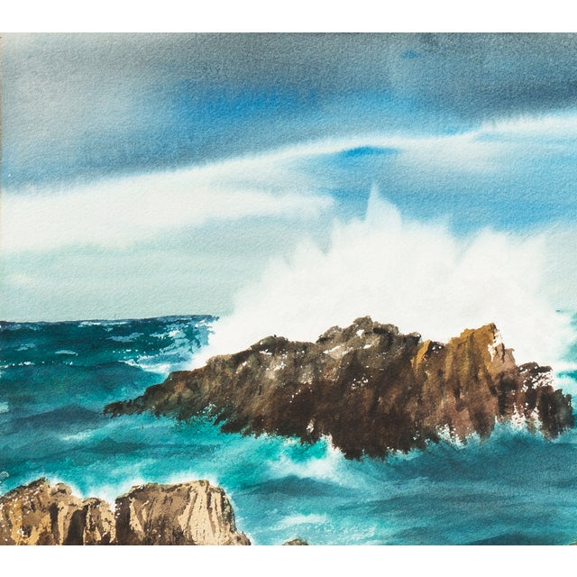 Margaret Seagrave Long Beach Surf Painting Image 2 Of 5