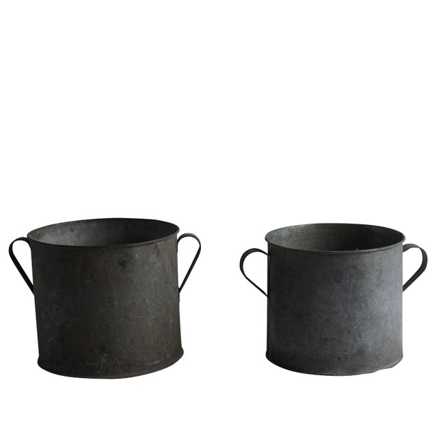 1950s Mid-20th Century Vintage French Pots - a Pair For Sale - Image 5 of 5