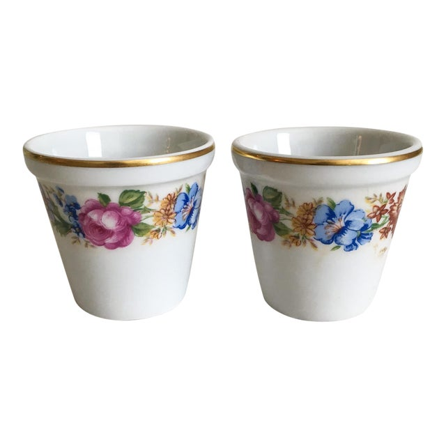 Petite French Limoges Pots - A Pair - Image 1 of 4