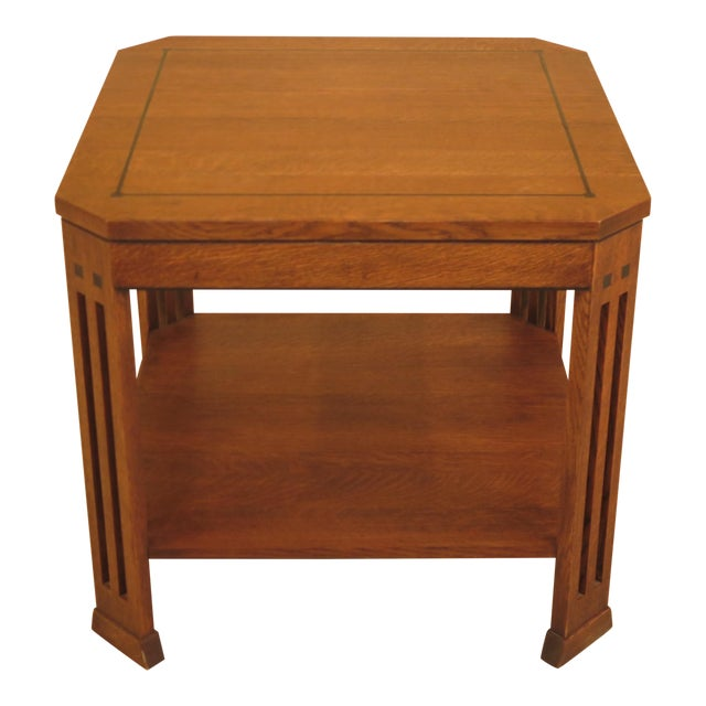 Stickley Arts & Crafts Oak Square Occasional Table - Image 1 of 8