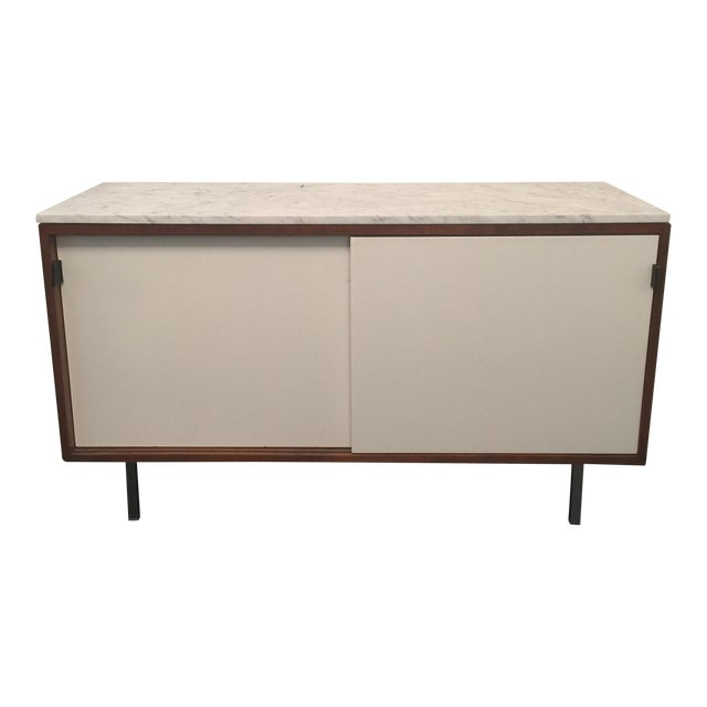 Florence Knoll Bianco Marble Top Credenza - Image 1 of 11