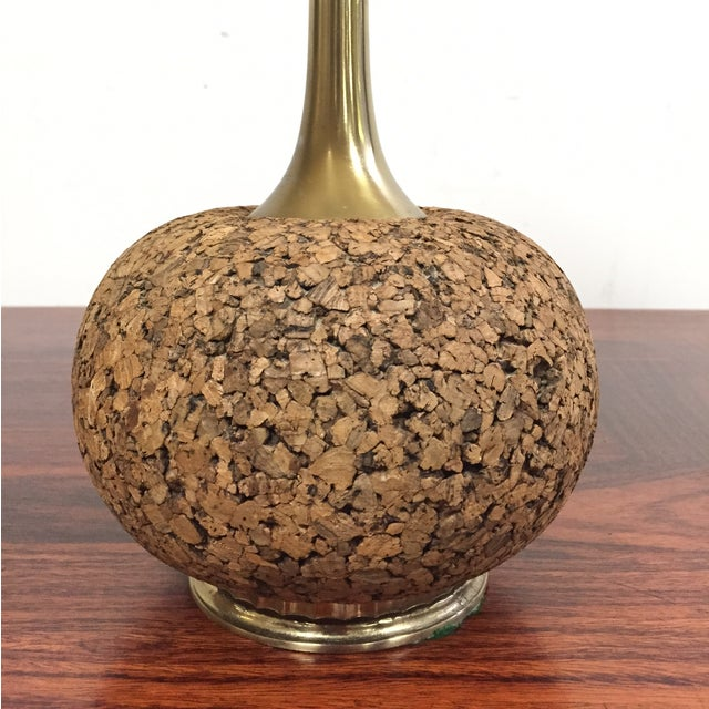 Cork & Brass Table Lamp - Image 3 of 6